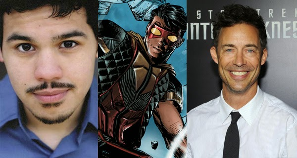 Carlos Valdes (Vibe) y Tom Cavanagh (H. Wells) en The Flash (CW)