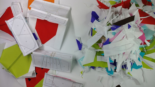 Paper piecing mess