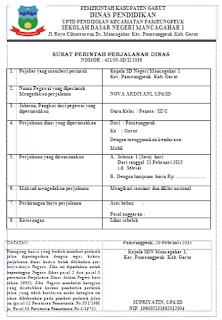 Surat Perintah Perjalanan Dinas (SPPD) Bagi Guru