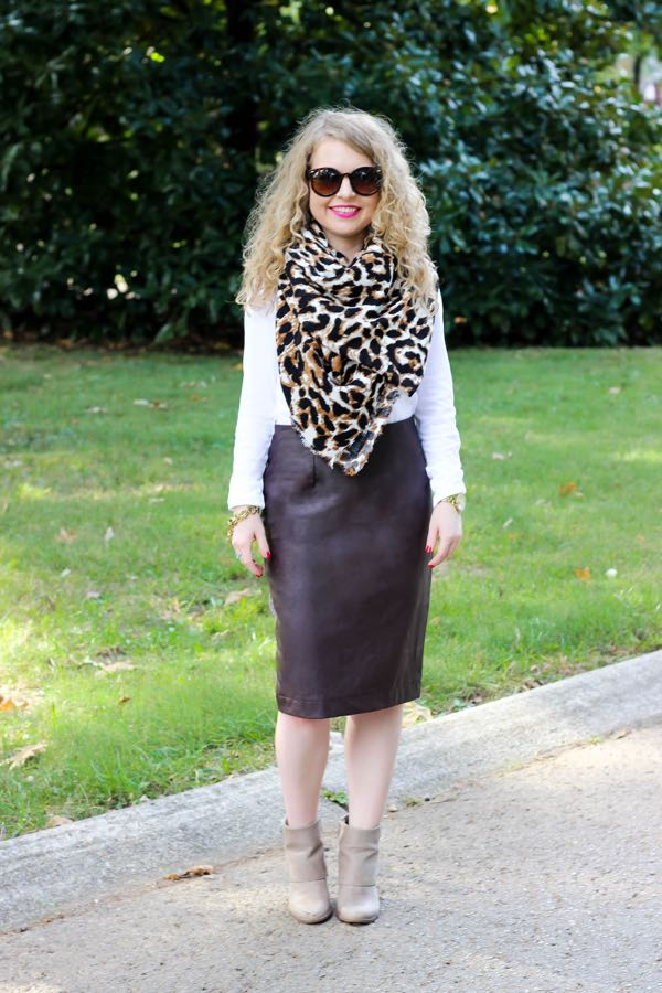 Asos  Leopard Scarf, Lawyer Lookbook