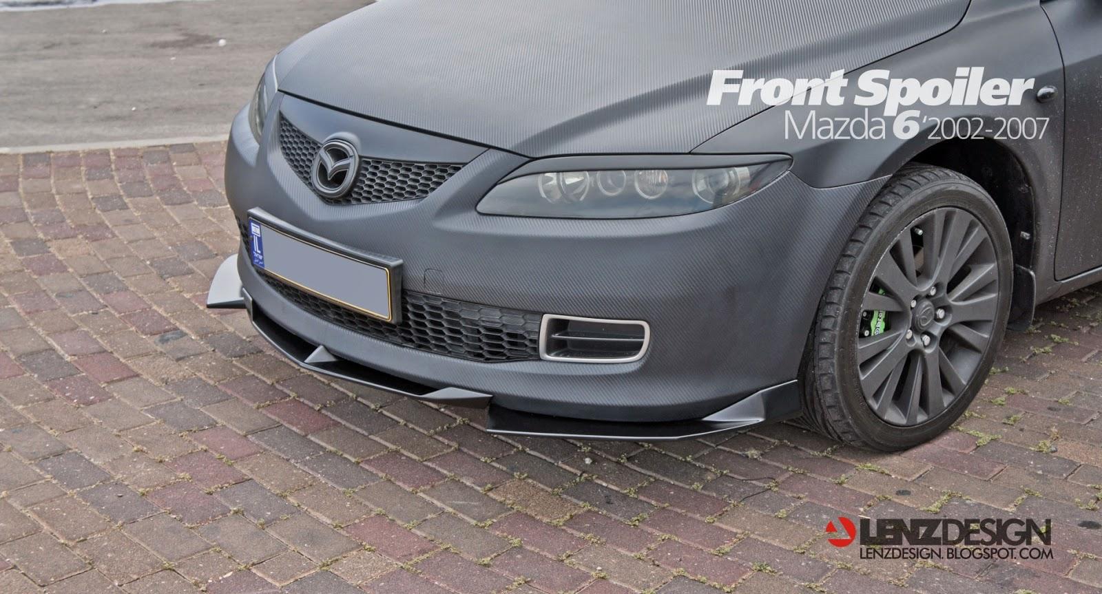 Mazda 6 2002 2007 Front Spoiler Lenzdesign Performance