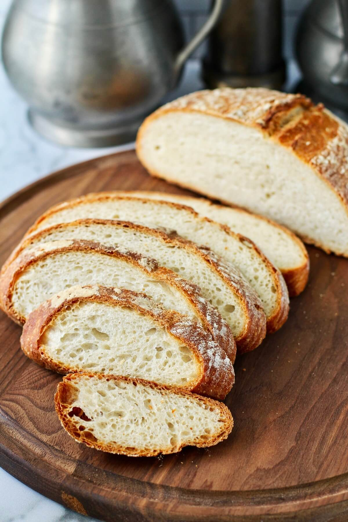 Basic Sourdough Bread for Beginners sliced