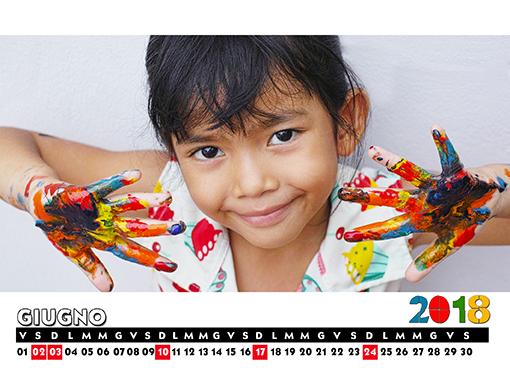 Calendario mensile d Tavolo
