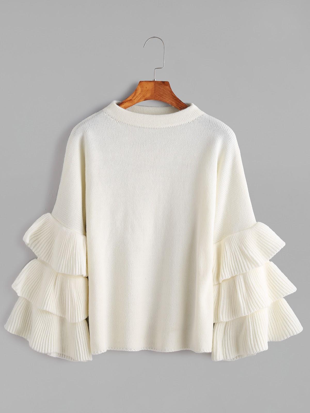 cheap ruffle pullover