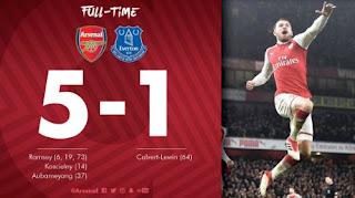 Arsenal vs Everton 5-1 Video Gol & Highlights