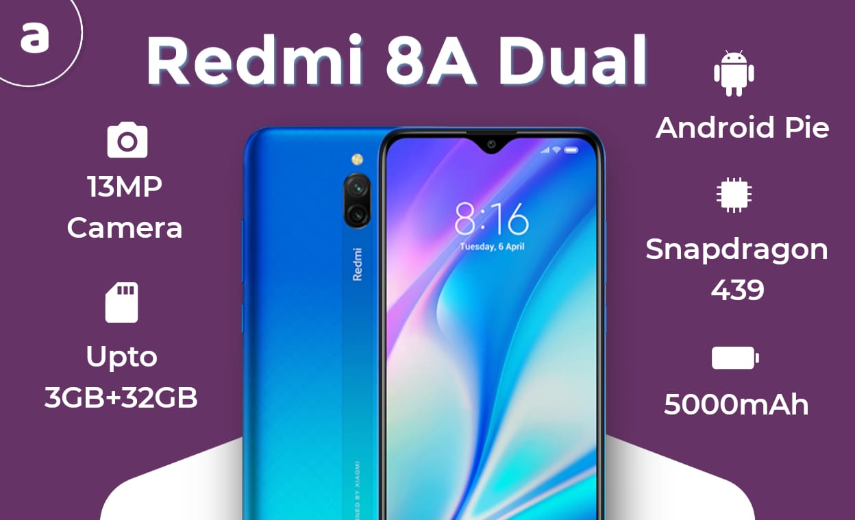 Redmi 8A Dual Features
