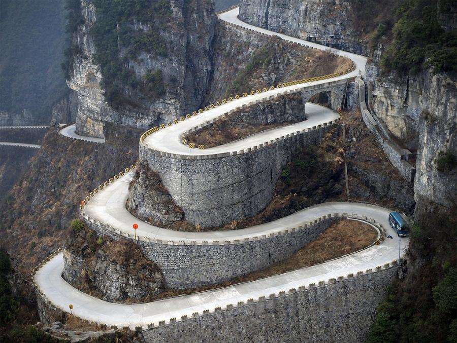 Tianmen Mountain Road, China.