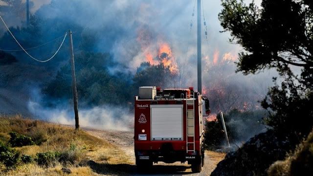 Μεγάλη πυρκαγιά στη Χίο - Εκκενώθηκε οικισμός
