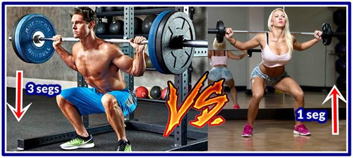 Repeticiones rápidas vs repeticiones lentas en cada ejercicio para hipertrofia muscular