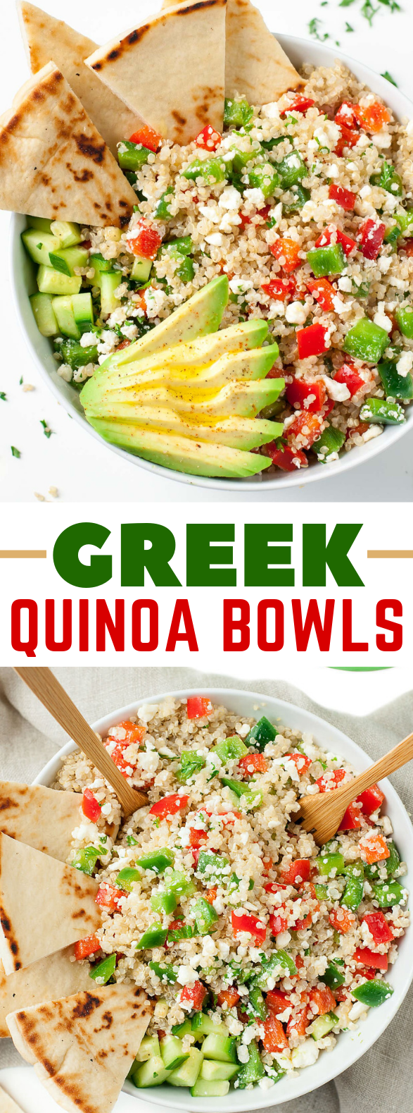 GREEK QUINOA BOWLS #healthydiet #veggies
