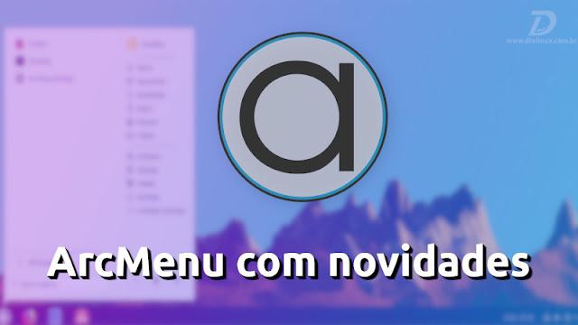 Nova versão do ArcMenu traz um novo layout, o Unity Dash