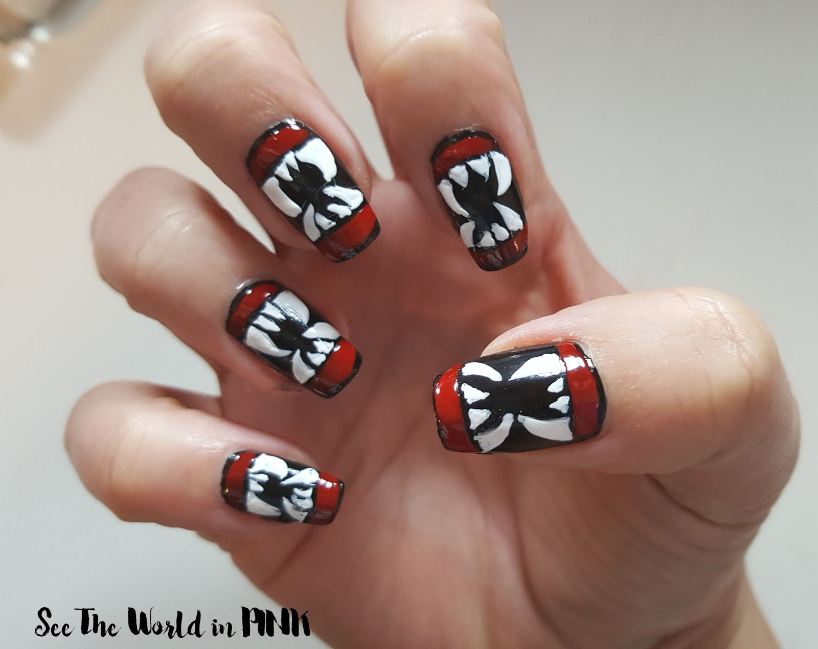 Halloween Manicure Tuesday - Vampire Teeth Nail Art