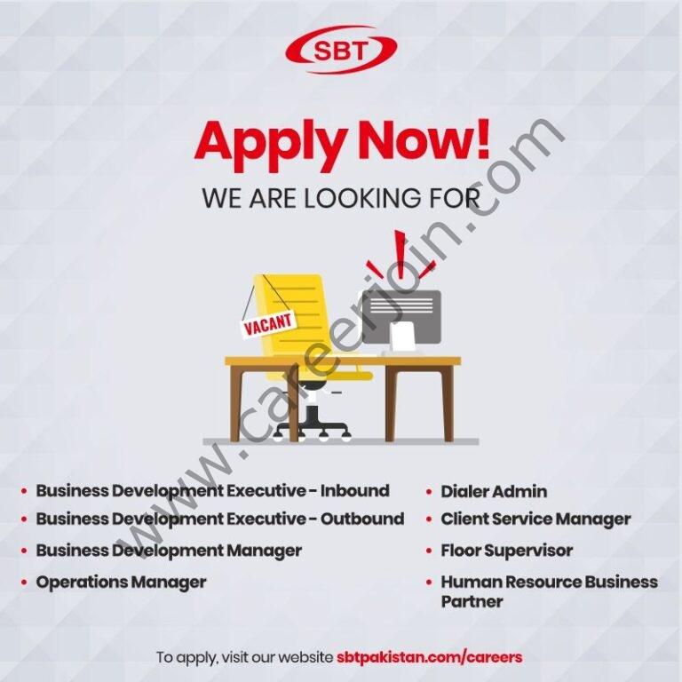 sbtpakistan.com/careers - SBT Co Ltd Jobs 2021 in Pakistan
