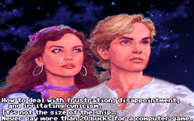 Guybrush y Elaine Marley en el final de Monkey Island