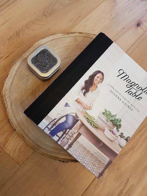Joanna Gaines cookbook & charcuterie ash slab