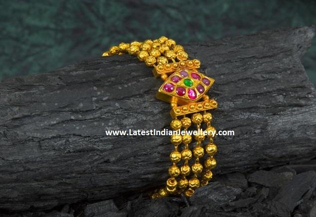 Gold Balls Bracelet Bangle