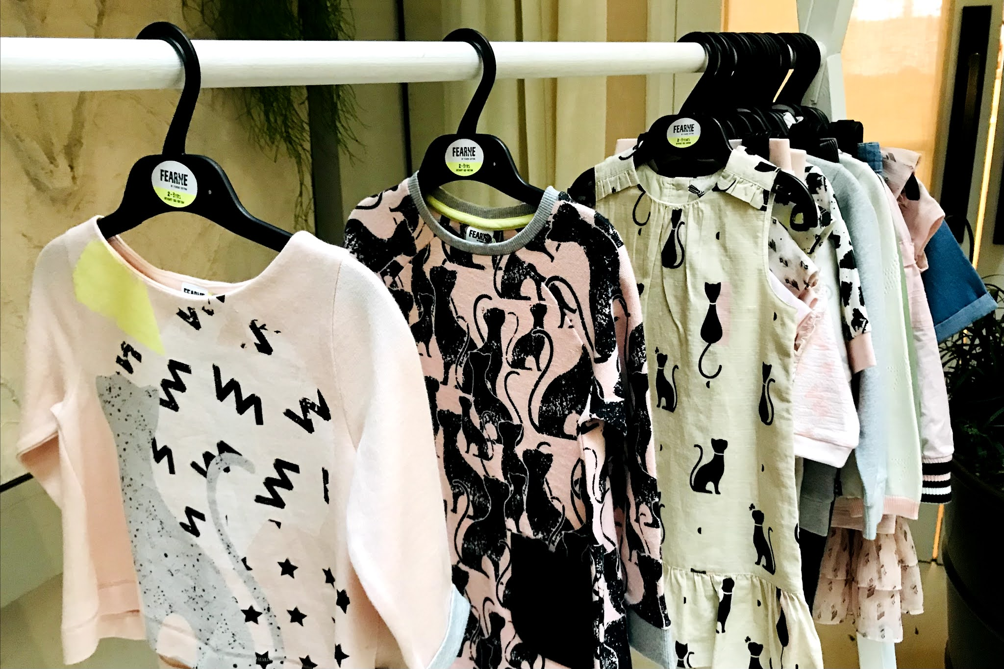 A clothing rail with great value children's clothes on
