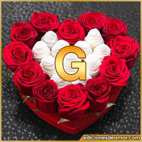 corazón de rosas rojas G