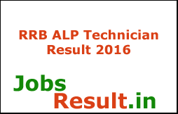 RRB ALP Technician Result 2016