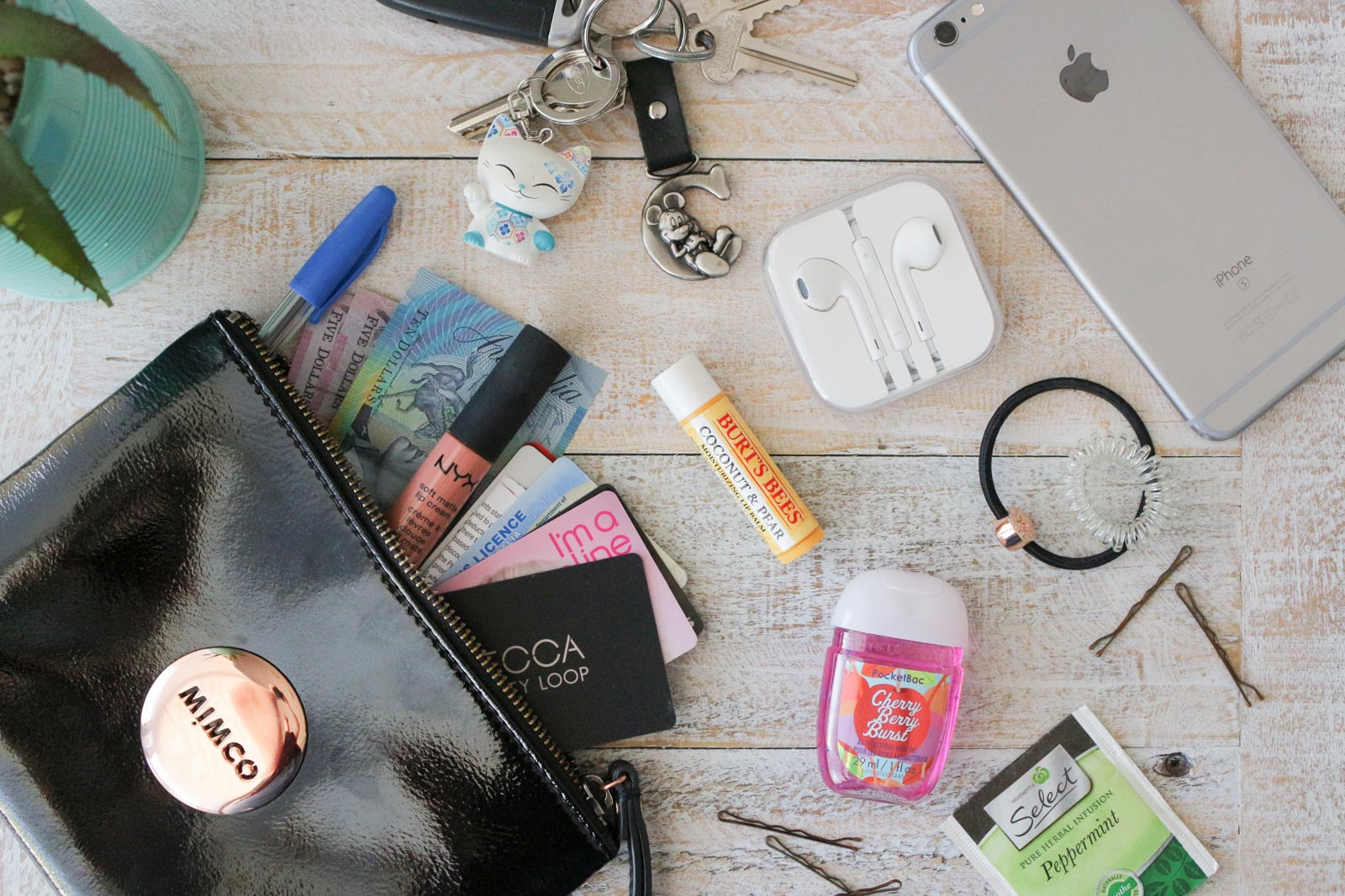 What's In My Everyday Clutch | Mimco Pouch | Cate Renée