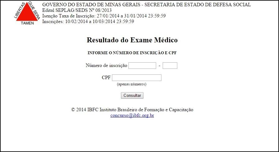 Resultado de exame medico