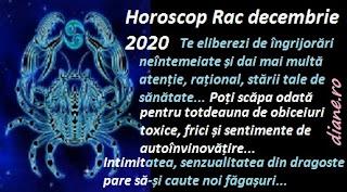 Horoscop Rac decembrie 2020