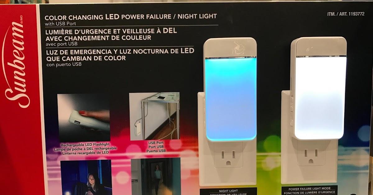 Sunbeam Power Failure Night Lights 3 Pack Costco Weekender
