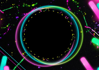 Neon Party Invitation with amazing invitation template