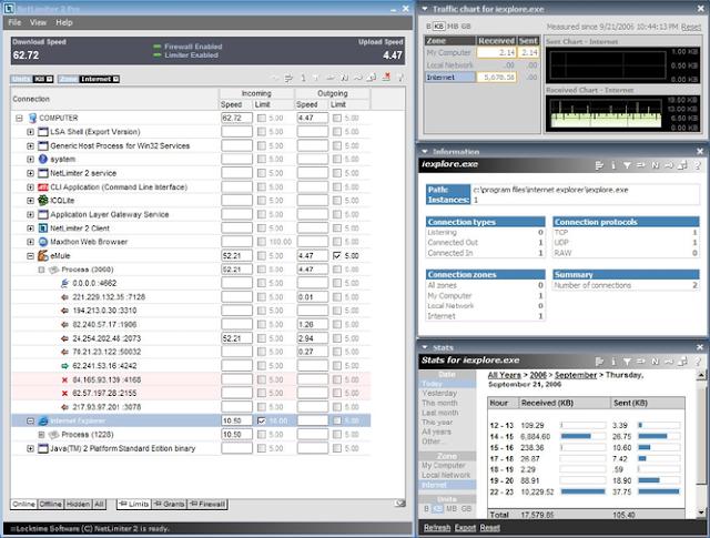 [ Update ] NetLimiter Pro 4.0.54.0 Pro - Giới hạn băng thông internet