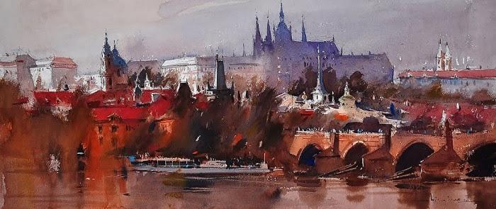 Городские пейзажи акварелью. Eugen Chisnicean