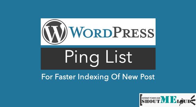 WordPress Pinglist