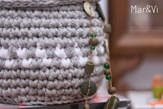 Cómo hacer cesta de trapillo con tapa
