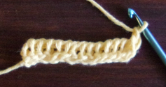 Tunisian Ladder Stitch Base Row 2 End