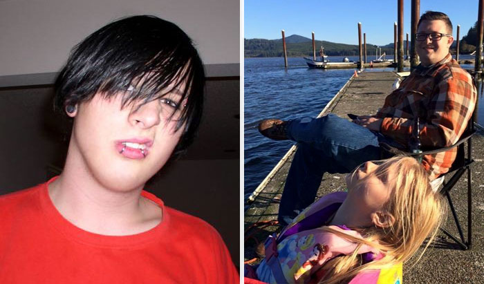 #10 Before - Year 2005, My 18 Year Old Emo Self. After - Year 2015, I Am A Loving Father And Husband. What A Difference 10 Years Can Make - 10 Before & After Pics Of Rebellious Teenagers