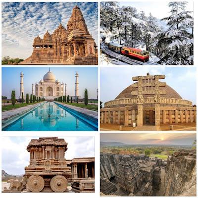 Details of world heritage sites in India | Bharat mein unesco ki virasat sthal | भारत के विश्व धरोहर स्थल