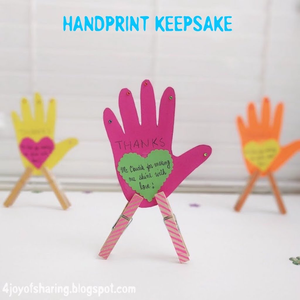 Handprint Keepsake Craft For Kids
