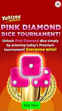 How To Get The Pink Diamond Custom Dice In Yahtzee With Buds