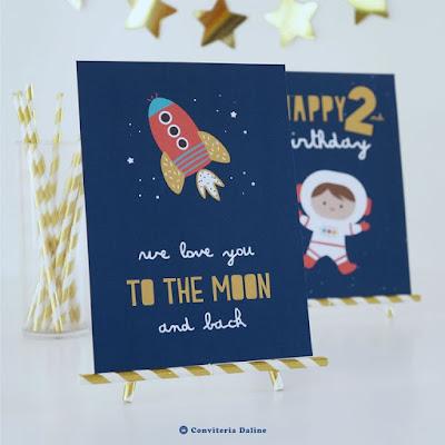 Pôster Decorativo Festa Astronautas
