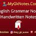 English Grammar Noun Handwritten Notes