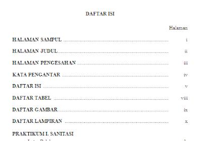 Contoh Daftar Isi Makalah - Membuat Daftar Isi Makalah yang Benar