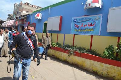"""مستقبل وطن"""" يطلق فرقا لتعقيم الاماكن العامة لمواجهة كورونا بكفر الشيخ"""