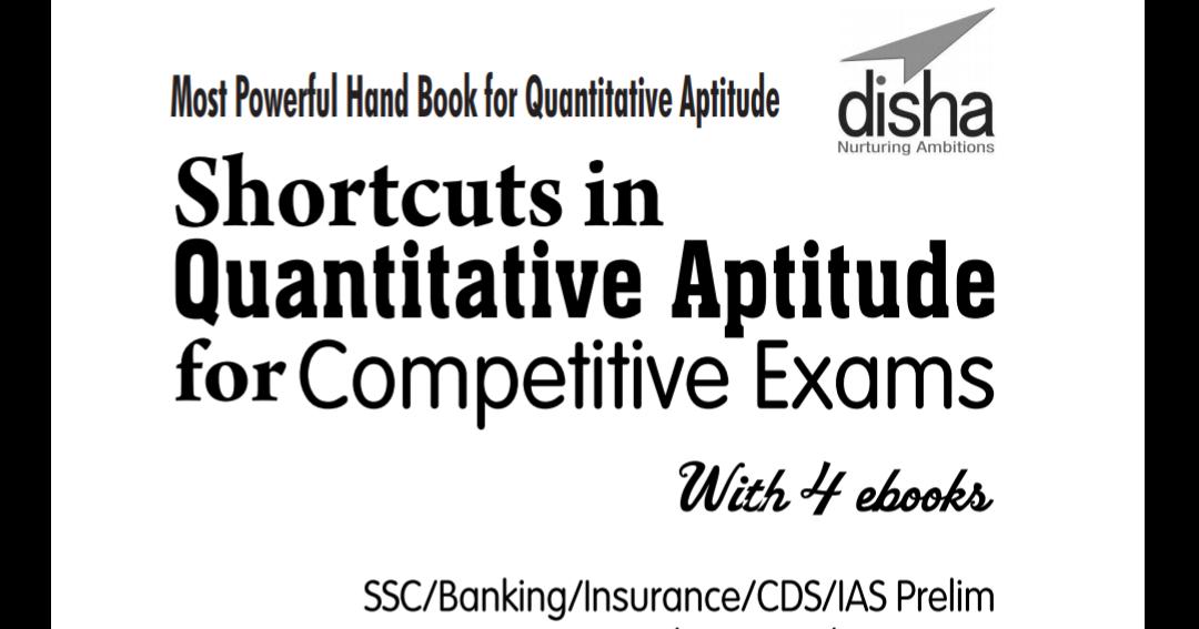 Shortcut Methods Quantitative Aptitude Ebook