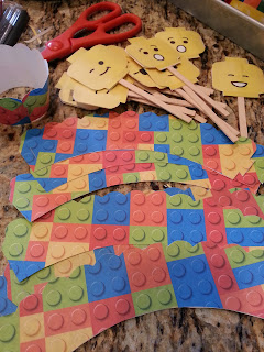 We Printed The Minifig Coloring Pages And Also Straw Toppers Cupcake Wrappers Cut Those Out Boys Used Double Stick Tape To Attach