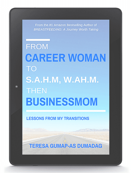 Book review of From Career Woman to SAHM, WAHM then Businessmom: Lessons from My Transitions