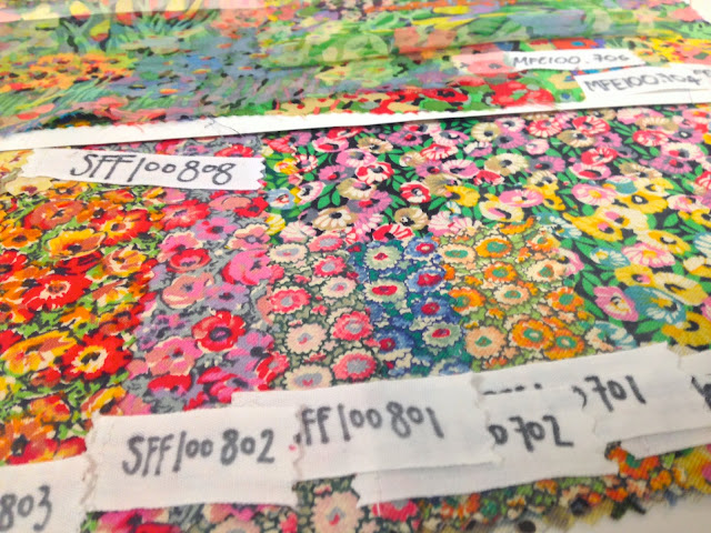 Floral Pattern Fabric Swatches Liberty London