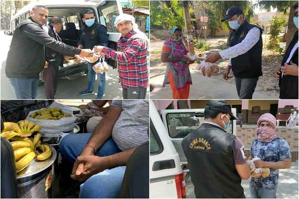 faridabad-police-crime-branch-helping-people-food-and-ration-news