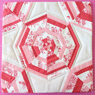 Spider Web block quilt pillow