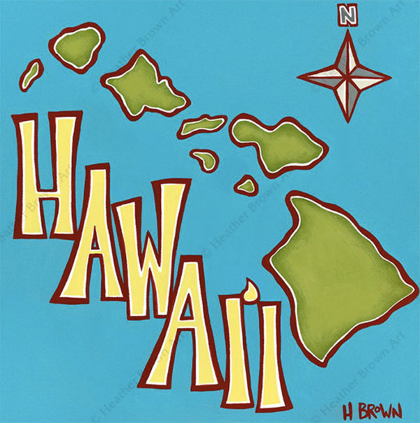 hawaii art heather brown