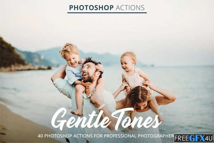 Gentle Tones Actions for Photoshop