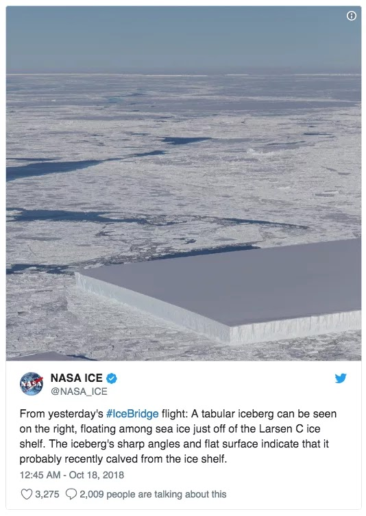 Stunning Pictures By NASA Depict A Rectangular Iceberg In Antarctica From Different Angles